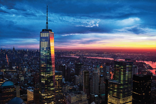 You'll see the famous sky line of New York!