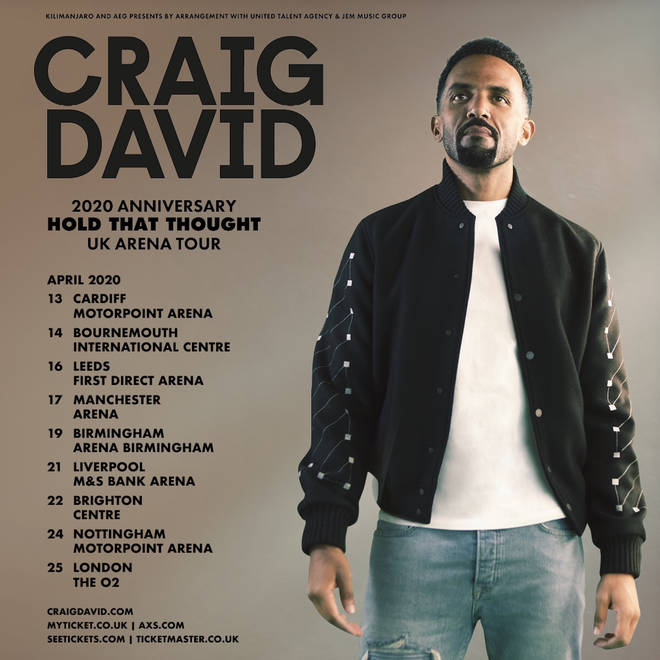 Craig David tickets are on sale now.