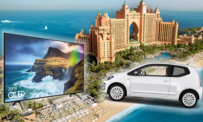 Your chance to win a trip to Dubai, a car and a TV