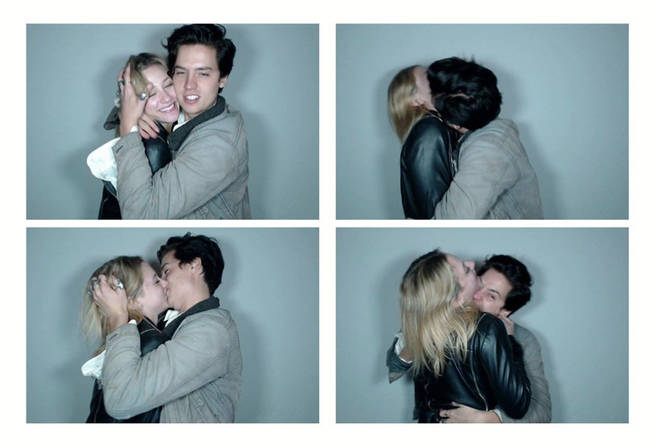 Cole Sprouse shared these cute pictures of him kissing girlfriend Lili Reinhart