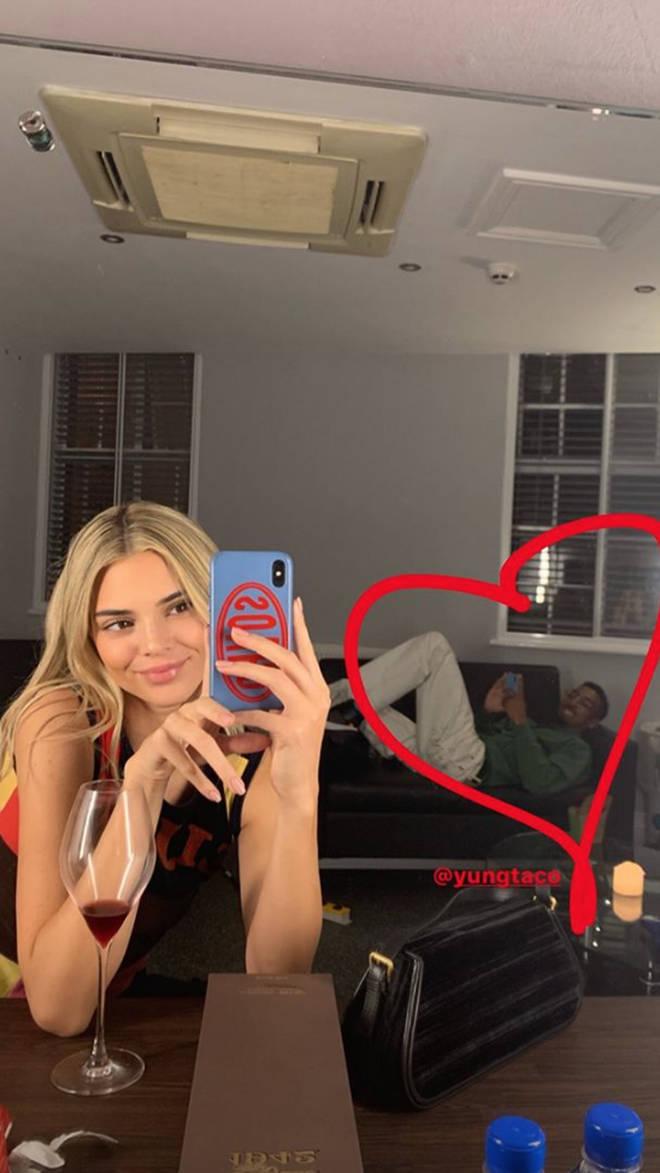 Kendall Jenner seemingly loved her blonde hair