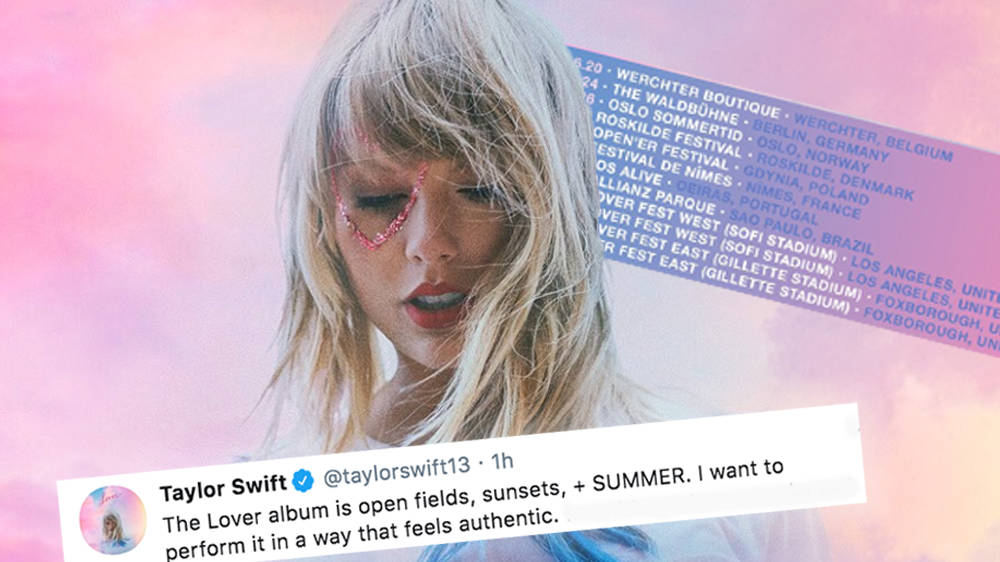 Taylor Swift Announces 'Lover Fest' For Her Latest Album & It's Touring With A Twist