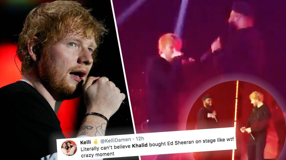 WATCH: Ed Sheeran Join Khalid On Stage At The O2 After Announcing 2 Year Break