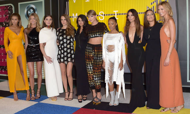 Taylor with her girl squad in 2015.