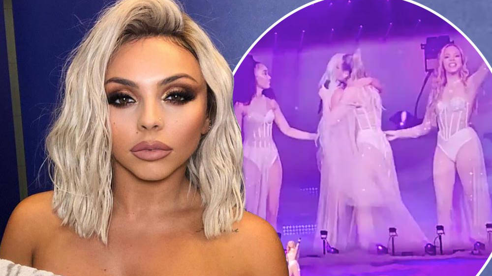 Jesy Nelson Comforted By Little Mix Bandmates As She Breaks Down Singing 'The Cure'