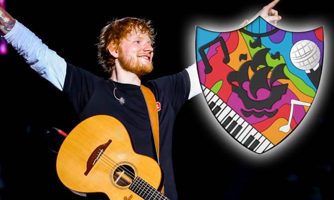 Ed Sheeran has designed the Blue Peter music badge