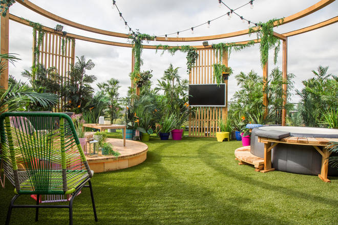 This year's apartment block has a rooftop with a hot tub