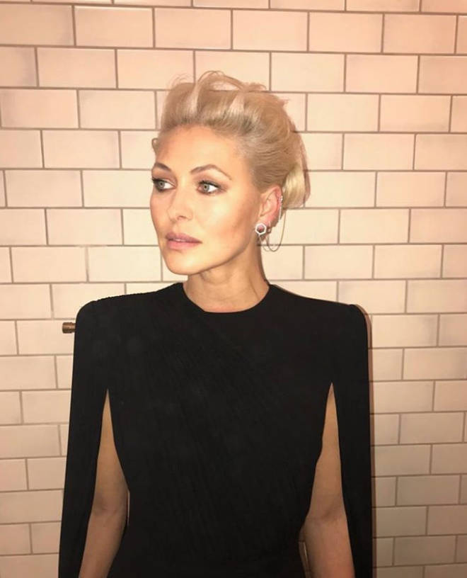 Emma Willis looked fabulous with ice blonde hair