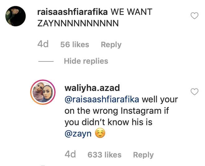 Waliyha Malik claps back at trolls.