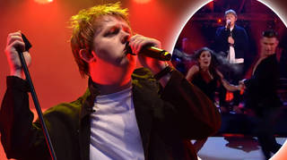Lewis Capaldi sang on Strictly Come Dancing on Sunday night