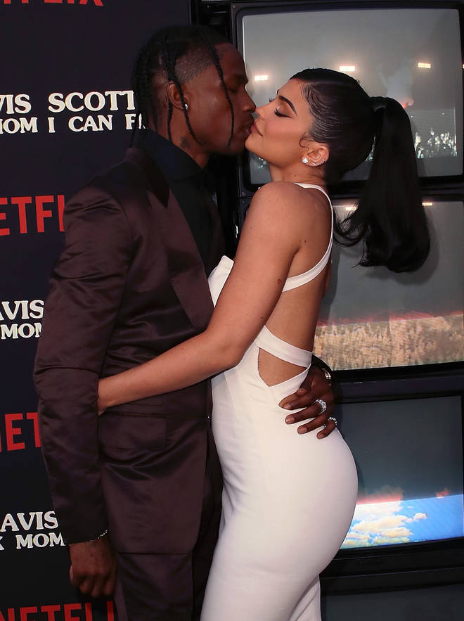 Travis Scott and Kylie Jenner looked so loved up at his Netflix premiere