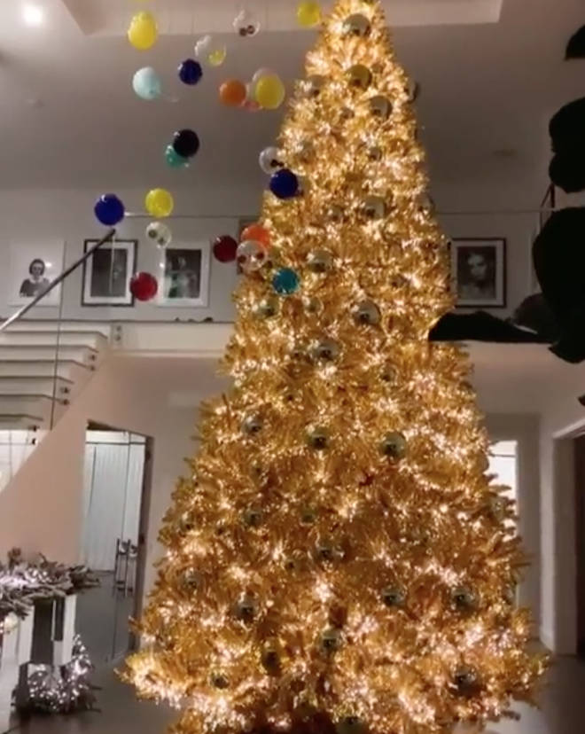 Kylie Jenner fills her grand entrance hall with a huge Christmas tree every year