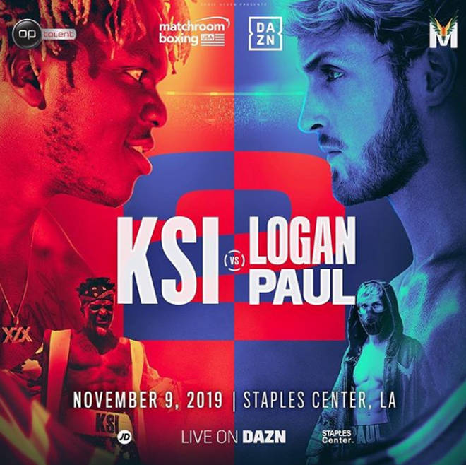 KSI and Logan Paul's rematch in November