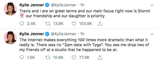 Kylie Jenner confirms split from Travis Scott on Twitter
