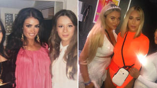 TOWIE sisters in throwback snaps.