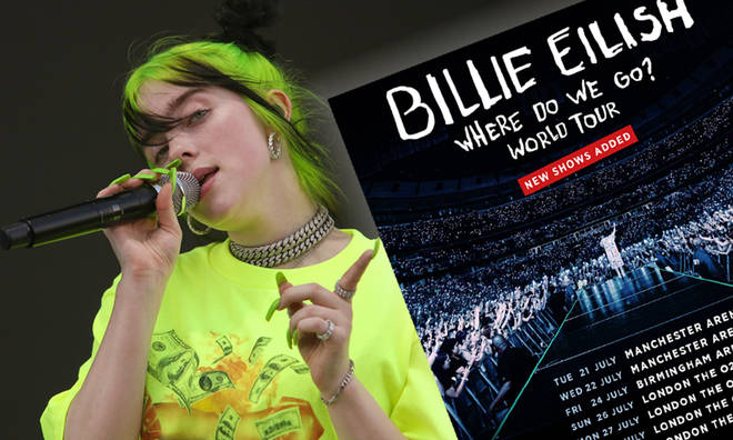 Billie Eilish announces extra dates to her UK tour