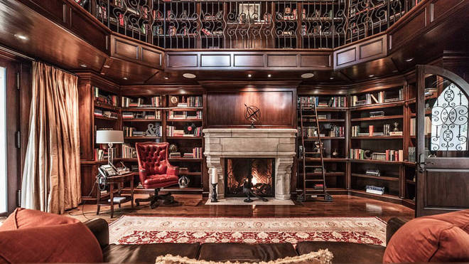 Liam Payne's home even has a library