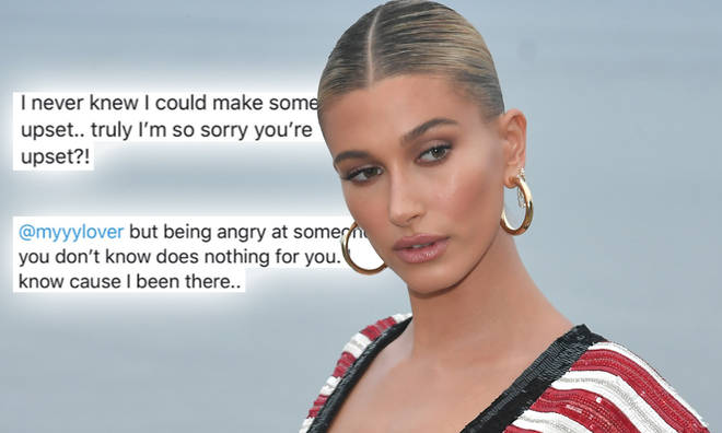 Hailey Baldwin responded to a Taylor Swift fan who shared a video slating the model