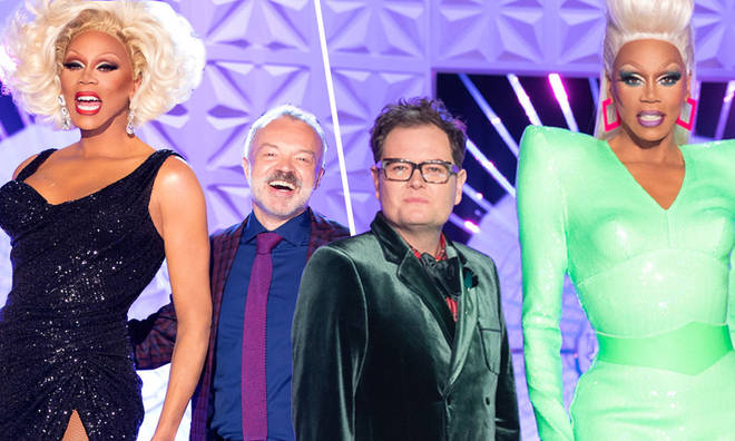 Graham Norton and Alan Carr are judges on Ru Paul's Drag Race UK