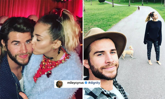 Miley Cyrus posts dig about Liam Hemsworth.