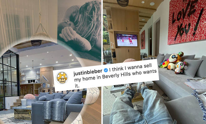 Justin Bieber's trying to sell his and Hailey's Beverly Hills home on Instagram