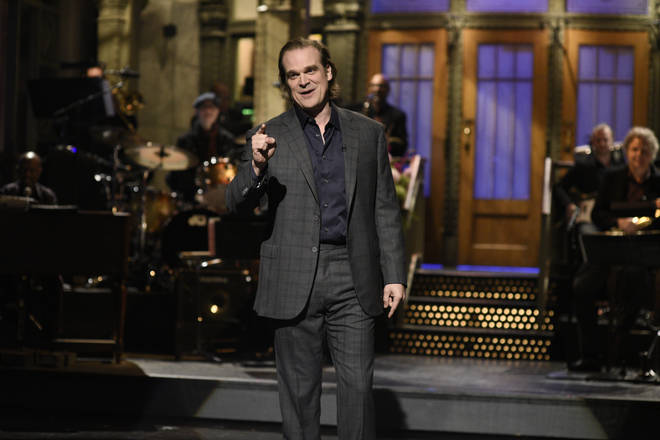 David Harbour hosted SNL as Lily Allen watched on
