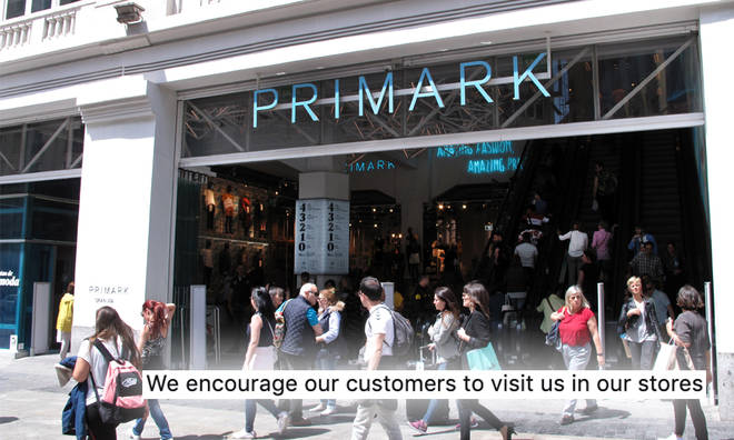 Primark have denied they now have online shopping
