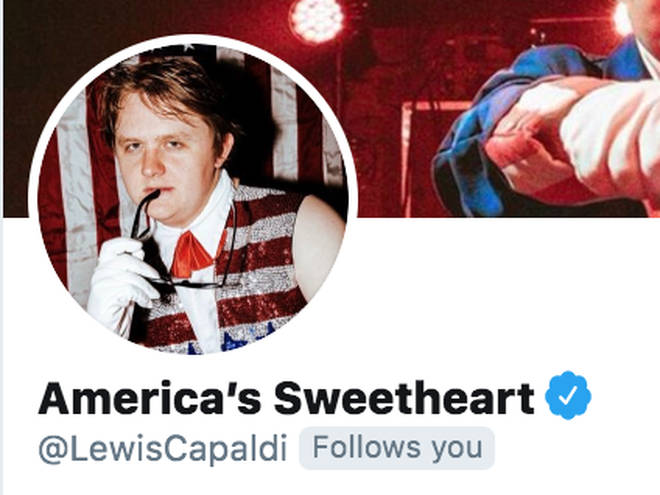 Lewis Capaldi Americanises his Twitter page
