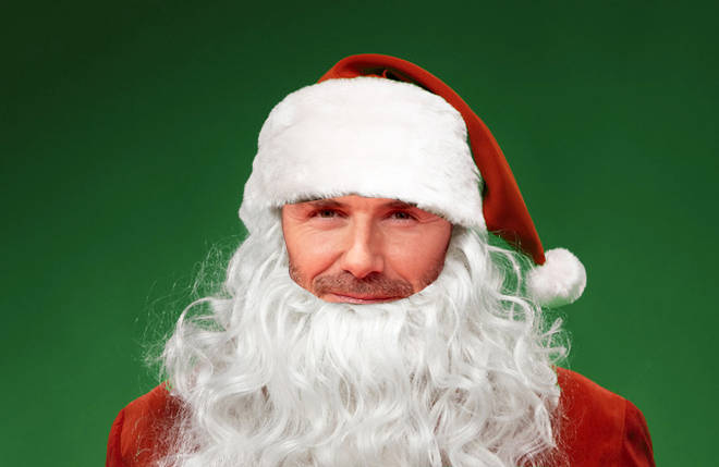 Tell us the name of the celebrity hiding under the Santa costume