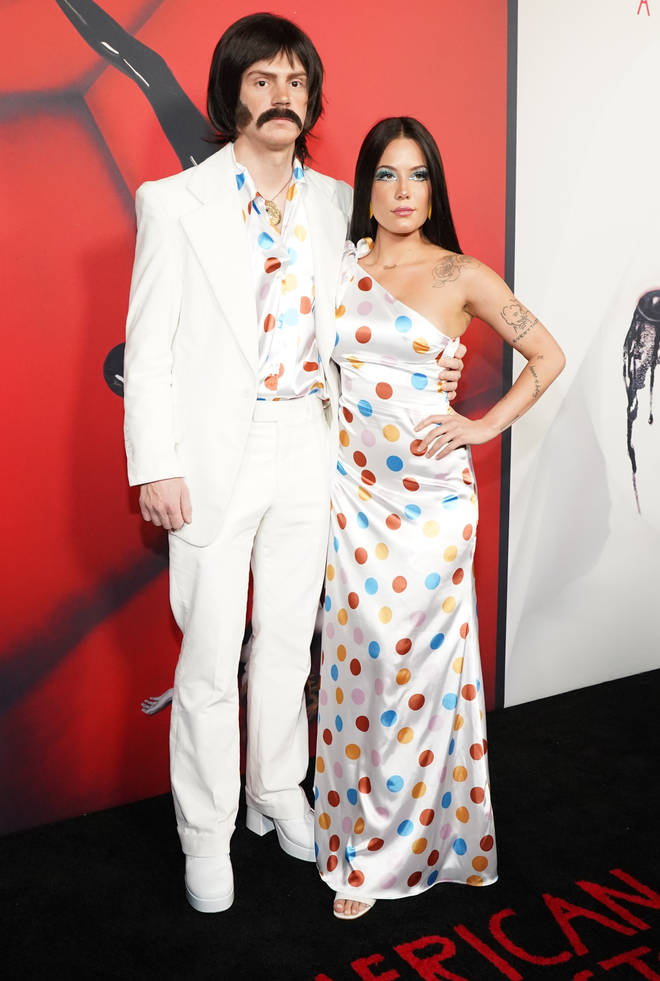 Halsey and Evan Peters went as Sonny and Cher to a Halloween bash