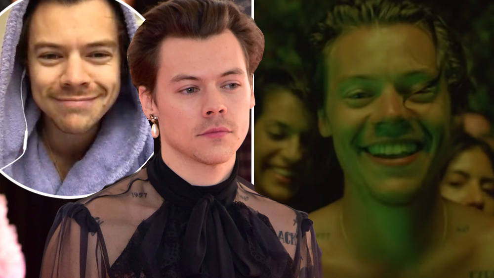 Harry Styles Lights Up Video Is Full of Glam Rock Fits