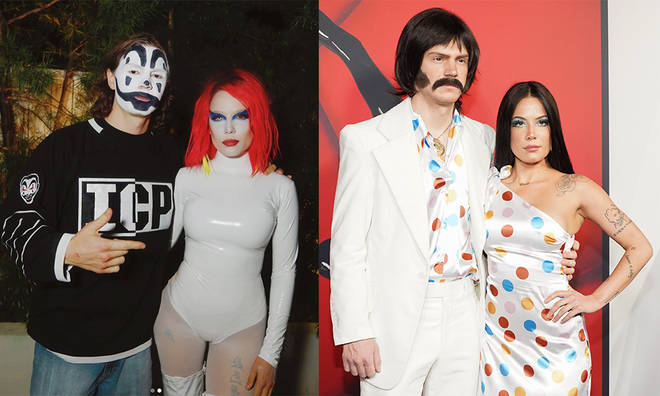 Halsey & her new boyfriend Evan Peters sporting their couples' costumes
