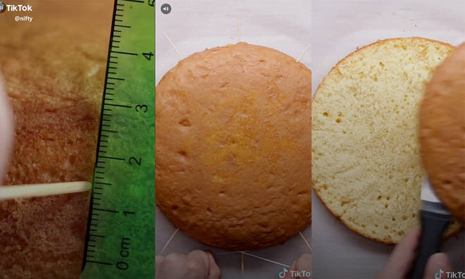 The simple way to cut your sponge perfectly in half