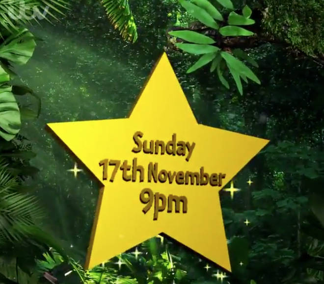 I'm A Celeb has a start date of 17 November at 9pm.