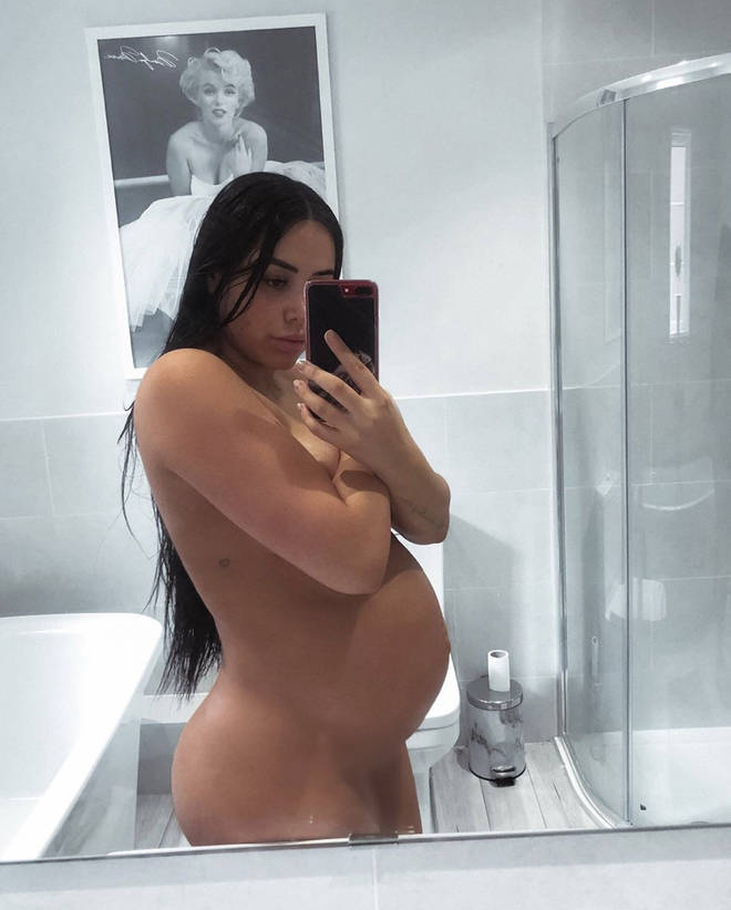 Marnie Simpson has shown off her baby bump