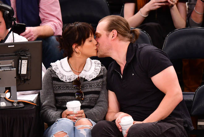 Lily Allen and David Harbour packed on the PDA at a basketball game