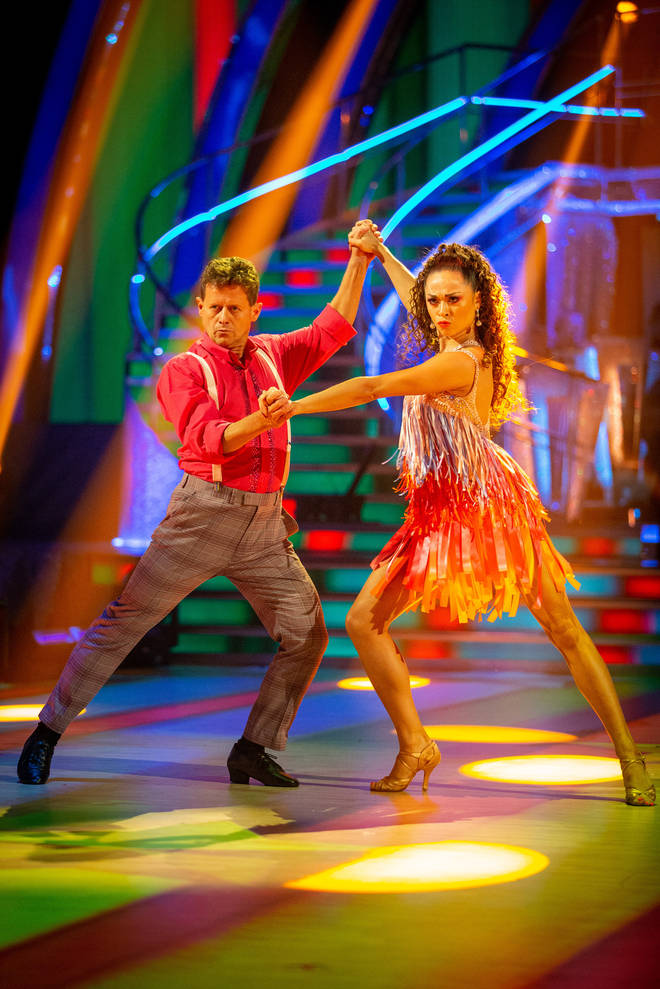 Katya Jones and Mike Bushell were saved by the Strictly judges