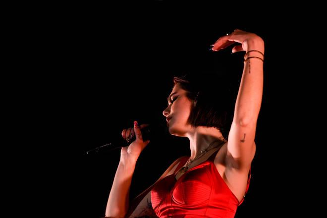Dua Lipa performs at the Sunny Hill Festival