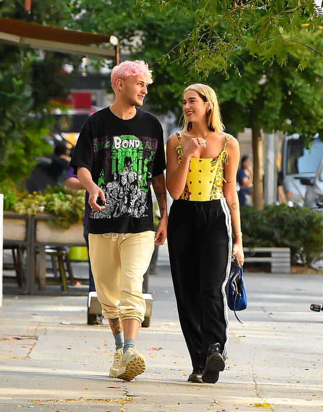 Dua Lipa and Anwar Hadid stroll around New York City together