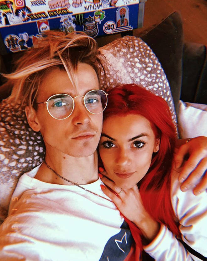 This picture sparked engagement rumours for Dianne Buswell and Joe Sugg