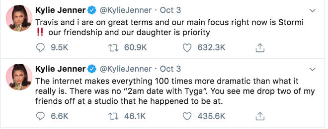 Kylie Jenner confirms split from Travis Scott