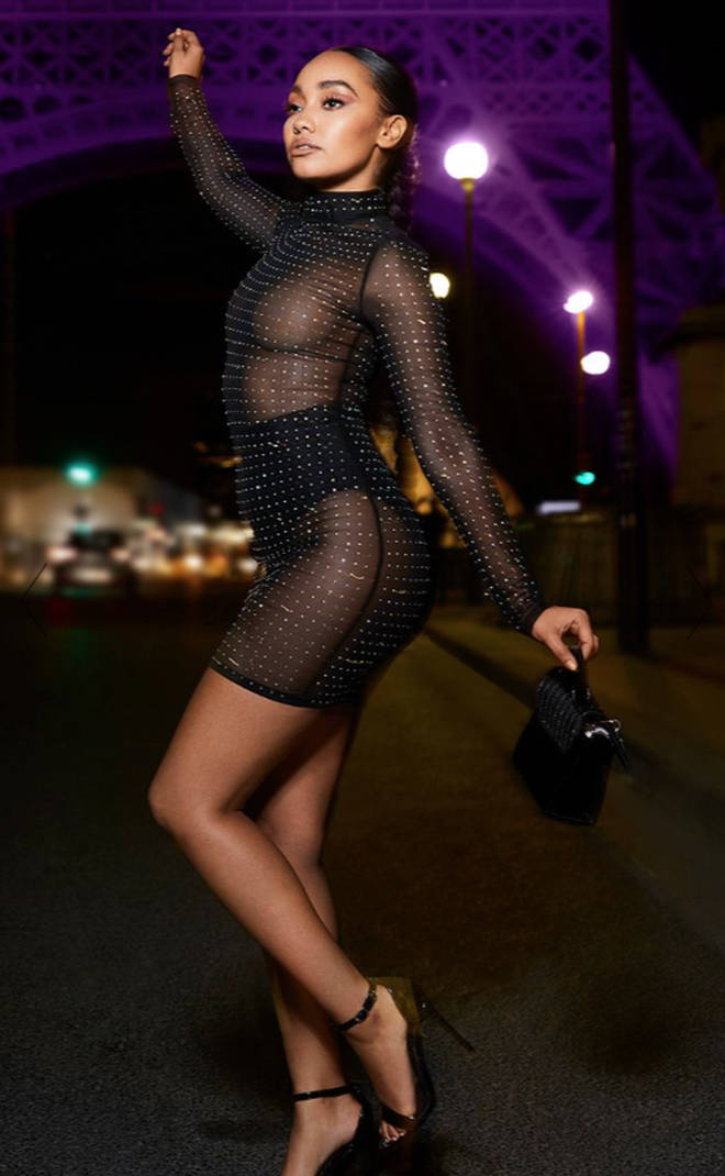 This mesh diamante dress also comes as a long-sleeved top
