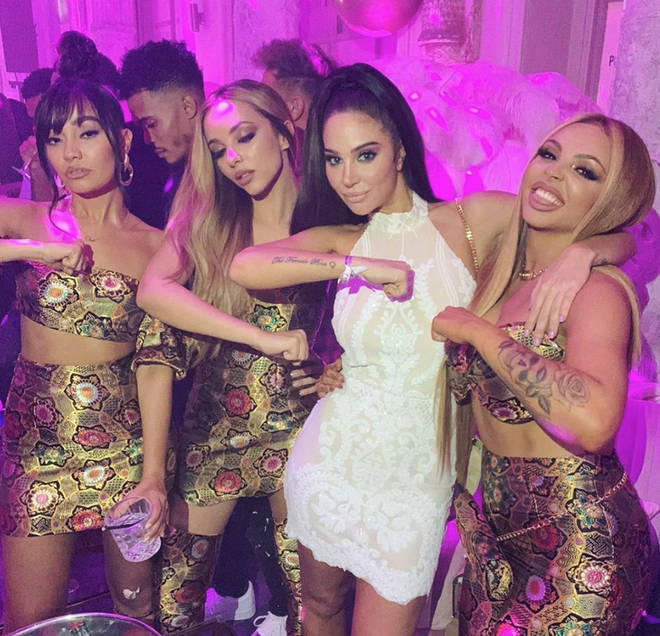 Tulisa was reunited with the Little Mix ladies