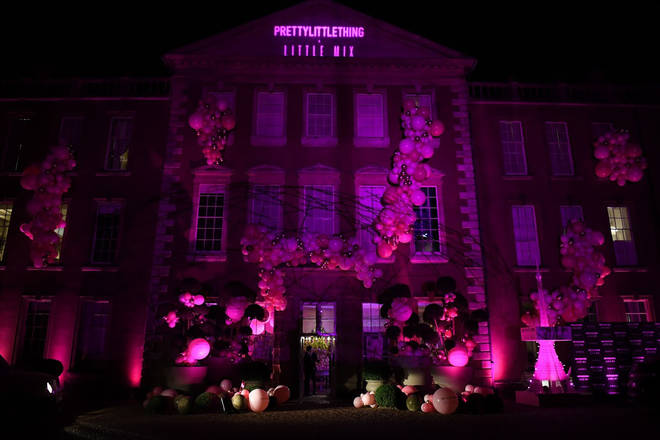 Aynhoe Park was lit up with PrettyLittleThing pink