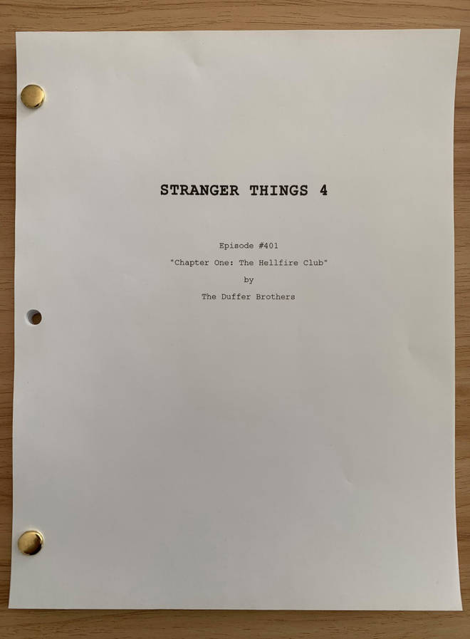 Netflix and Stranger Things' writers tweeted this picture of the script