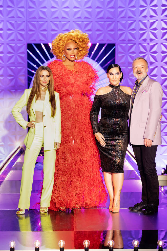 Cheryl appears as a guest judge on Ru Paul's Judge Race UK