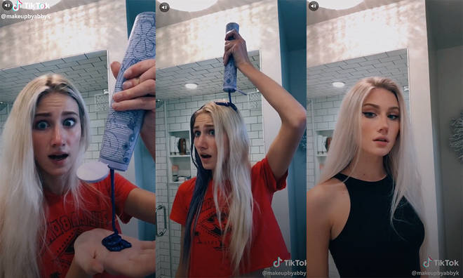 The purple shampoo challenge has taken over social media