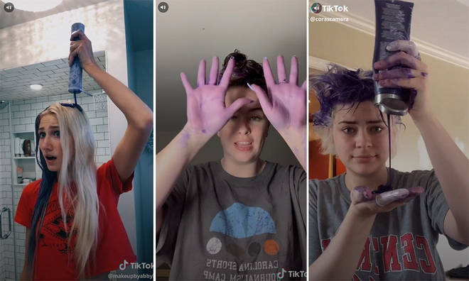 The latest TikTok trend sees teens trying to turn their hair blonde
