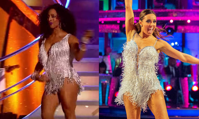 Amy Dowden's dress was revamped after Alexandra Burke wore it two years ago