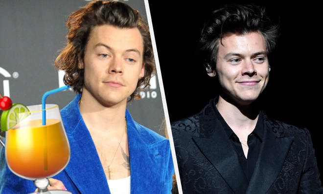 Harry Styles is said to have completed a cocktail drinking challenge